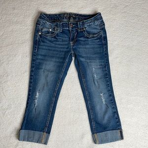Ariya Denim Cropped Jeans Distressed Size 3 / 4